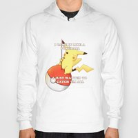 pokeball Hoodies featuring Pokeball by Mie Kristensen