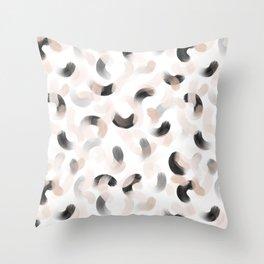 La gouache neutral Throw Pillow