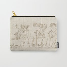 Cattle count from Histoire de lart egyptien (1878) by Emile Prisse dAvennes Carry-All Pouch