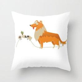 Collie Gift Idea Throw Pillow