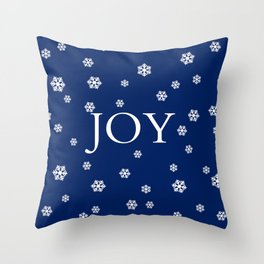 Winter Joy - navy blue - other colors Throw Pillow
