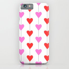 Pink and Red Full Heart Strings iPhone Case