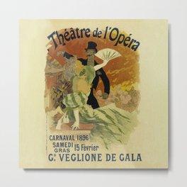 Theatre de l'Opera Carnaval 1896 - Jules Cheret Metal Print