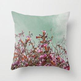 Flower Tree Throw Pillow
