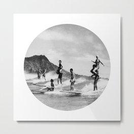 Tandem Surfing Metal Print