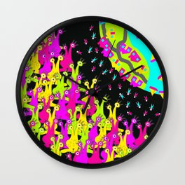 Earthlings Wall Clock