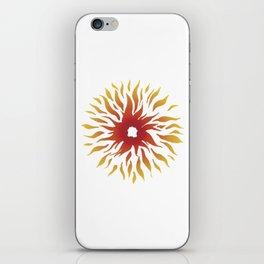 Circle of fire iPhone Skin