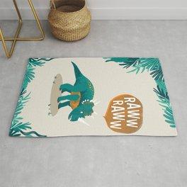 Styracosaurus print Rug