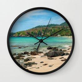 Paradise Beach Thailand Wall Clock