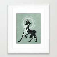 saga Framed Art Prints featuring Saga of Lord Emil by CanisAlbus