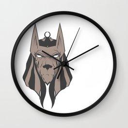 Anubis face Wall Clock