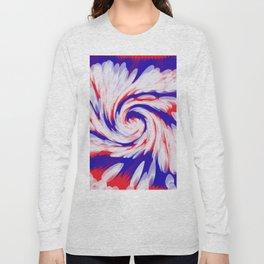 USA Red White Blue swirl Long Sleeve T-shirt