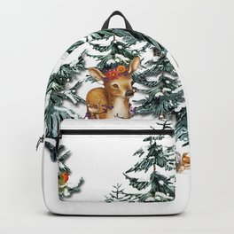 Christmas Winter Wonderland Fawn Backpack