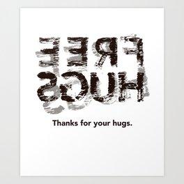 Hug back Art Print
