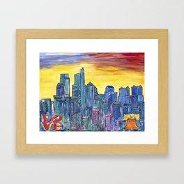 Philadelphia Skyline Framed Art Print