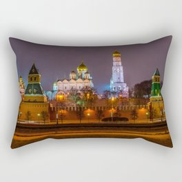 Moscow Kremlin cathedrals at night Rectangular Pillow