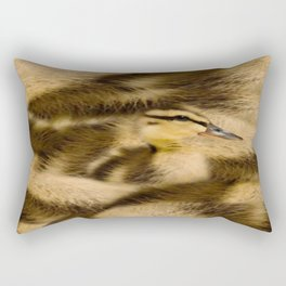 Easter Duckling in camouflage Rectangular Pillow