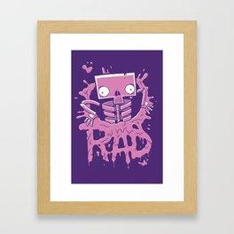 Rad Poster Framed Art Print
