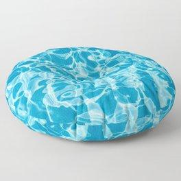 Geometric Swimming Pool - Mid Century Modern Floor Pillow