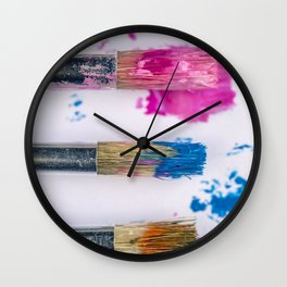 Paint and Brushes Wall Clock