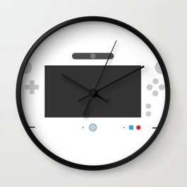 Wiite U Wall Clock