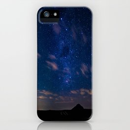 Milky Way over the Glass House Mountains iPhone Case