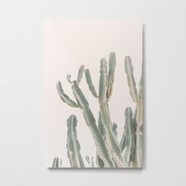 Sunrise Cactus Metal Print