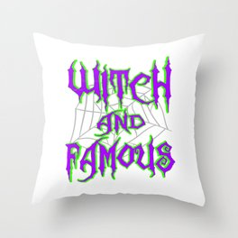 Hangover with the Halloween? Can't get enough of witches? Here's the perfect tee for you!  Throw Pillow