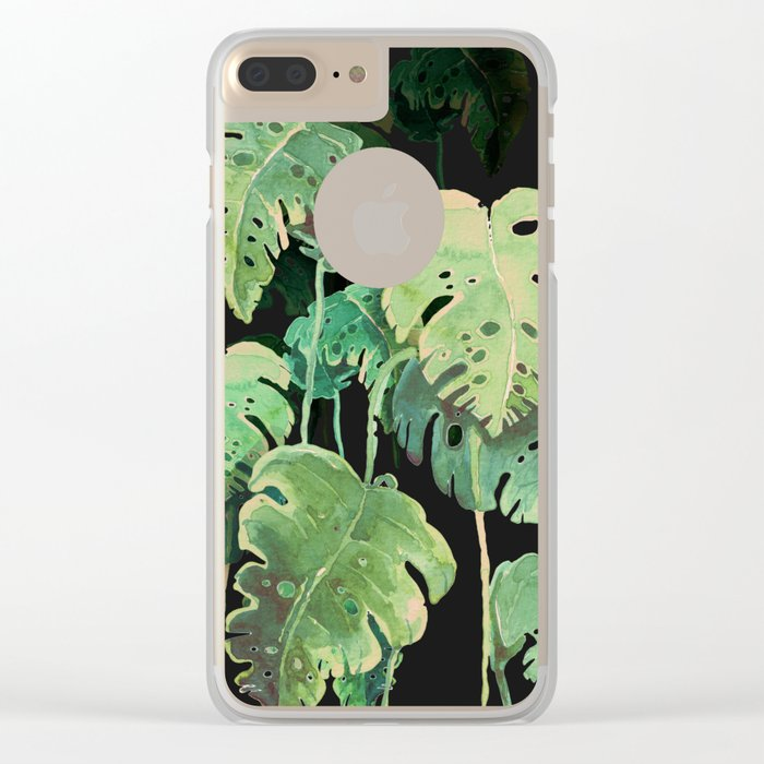 tropical in the dark Clear iPhone Case