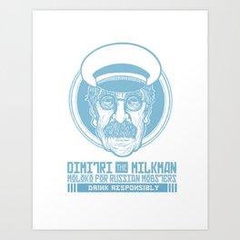 Old School Milkman Art Print