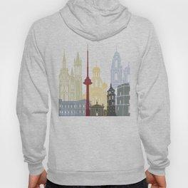 Vilnius skyline poster Hoody