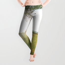 Summer Photography - A Tree On A Grassy Field Leggings