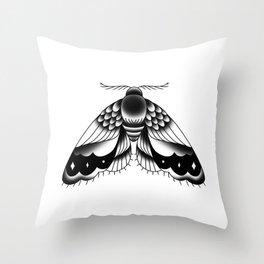 Goth Moth II Throw Pillow