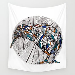 Geometric kiwi Wall Tapestry
