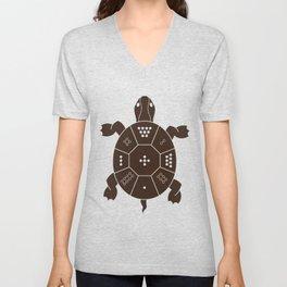 Lo Shu Turtle Unisex V-Neck