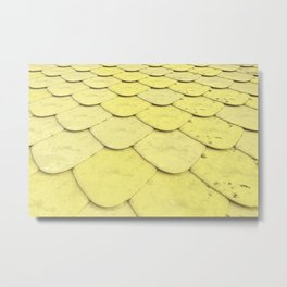 Pattern of yellow rounded roof tiles Metal Print