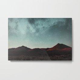 Universe above the mountain peaks Metal Print