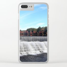Water Fall and Autumn Clear iPhone Case