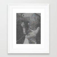 glitch Framed Art Prints featuring Glitch by Amélie Haeck