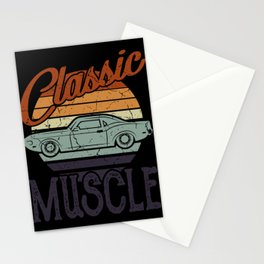 FUNNY MUSCLE CAR QUOTES Tuning Gift Classic Car Stationery Cards