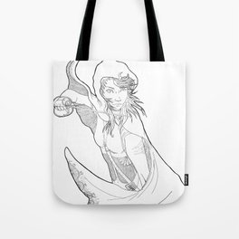 Little Red (linear) Tote Bag