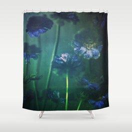 Scabious Blue Shower Curtain
