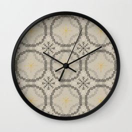 Stitched Bubbles Beige Wall Clock