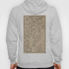 Vintage Map of The Chesapeake Bay (1769) Hoody