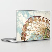 ferris wheel Laptop & iPad Skins featuring ferris wheel by Sylvia Cook Photography