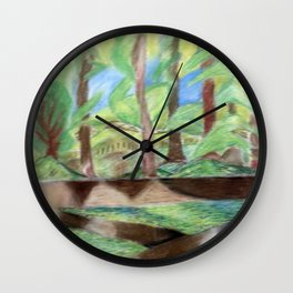 Flash of Scenery Wall Clock