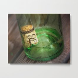 Wine Bottle Food Art by Murray Bolesta! Metal Print