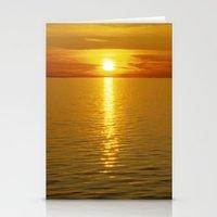 swedish Stationery Cards featuring Swedish Sunset by LesImagesdeJon