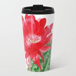 Сactus with red flower Travel Mug