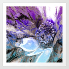 In Sunlight, Lilac and Blue Art Print